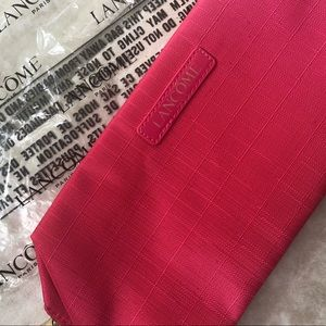 New Lancôme travel makeup bag small coral clutch